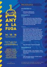 Programa d'activitats del 1r Aniversari de Can Fugarolas